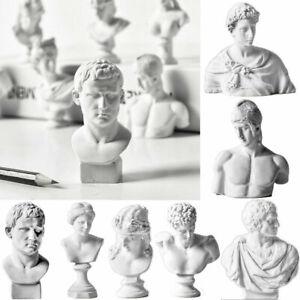 10Pcs Plaster Bust Sculpture Greek Mythology Figurine Portrait Famous Decor Gift