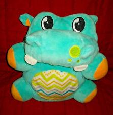 Summer Infant Kiddopotamus Laughng Shaking Dancing Blue Velour 7in Plush Hippo