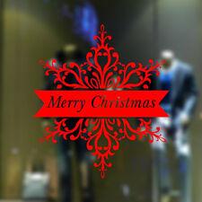 Letter Merry Christmas Tree Wall Sticker Window Decor Vinyl Art Happy