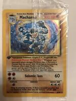 Machamp 8/102 New Factory Sealed Vintage 1st Edition Holo Pokemon Rare