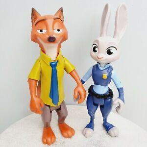 "DISNEY Tomy - Nick Wilde & Judy Hopps 9"" Figures - Zootopia Zootropolis"