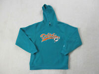 NFL Miami Dolphins Sweater Youth Large Green Orange Hoodie Football Kids Boys *