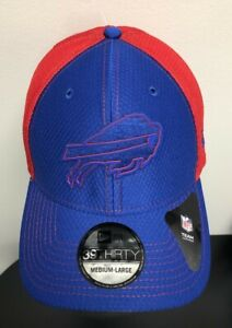 BUFFALO BILLS New Era 39Thirty Flex Fit HAT / CAP Blue Red Medium-Large NEW