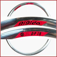 "NOS RIGIDA DP18 AERO RIMS TRACK 28"" 700c 18h VINTAGE CLINCHER 90s ROAD RACING DP"