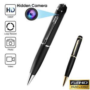 NEW Mini Hidden Spy Camera Pen HD 1080P Video Recorder Clip On Body Portable Cam