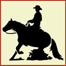 REINING HORSE AND RIDER STENCIL, WESTERN  STENCILS -The Artful Stencil