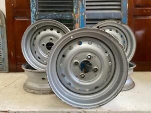 4 Original Triumph TR6 Steel Rims
