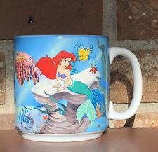 Vtg 1989 Walt Disney Little Mermaid Classics Mug Cup Ariel Ursula Flounder
