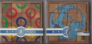 2 vintage 1980's wooden puzzles,boxed & complete, Lagoon Games