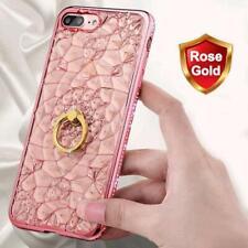 3D Bling Glitter Diamond Ring Holder Stand Case Cover Girly For iPhone 7 8 Plus