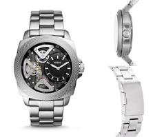 FOSSIL Wrist Watch Mens Privateer Mechanical Skeleton S.Steel Watches BNIB R£239