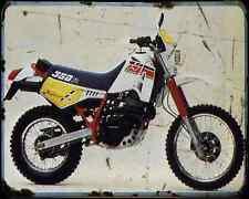 Cagiva T4 350R 88 A4 Metal Sign Motorbike Vintage Aged