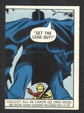 1966 DONRUSS MARVEL SUPER HEROES CARD #12 IRON MAN