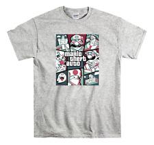 Mario Theft Auto Children's T-Shirt GTA Kids Top Gaming Tee New Gift Present