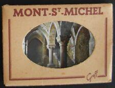 Carnet de 10 mini-photos du MONT SAINT MICHEL - Ed. Greff