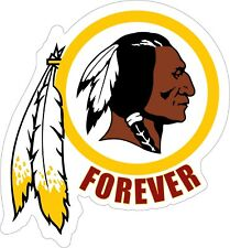 WASHINGTON REDSKINS FOREVER Vinyl Decal / Sticker Laminated For A Long Life