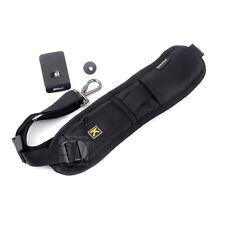 For Nikon Canon Camera DSLR  black Quick Rapid Shoulder Sling Belt Neck Strap
