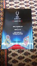 Programm Europäisches Supercup Finale Real Madrid - Sevilla FC 12.08.2014