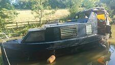 Narrow boat for sale all steel houseboat widebeam Perkins 4.107 diesel engine