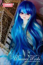 BJD Doll Hair Wig 7-8 inch 18-20cm 1/4 MSD DOD LUTS Mix Blue Malachite Green