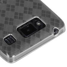 Motorola Droid Razr Maxx HD Candy Skin Gel Cover Soft Case Clear Checker