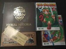 Zelda 25th Anniversary Hyrule Historia + 2 Manga Oot Japan - Nintendo Japanese