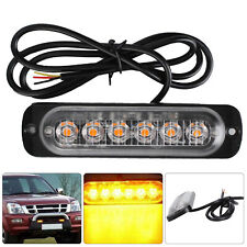 2X12/24V AMBER RECOVERY CAR STROBE 6LED LIGHTS ORANGE GRILL BREAKDOWN FLASHING