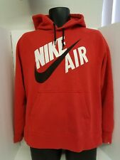 Nike Red Hoodie Black Swoosh pullover Missing Tag Good Condition