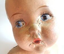 Antique GERBER BABY Doll Head Bust Store Display Advertising Chippy Mold Vintage