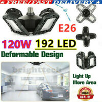 UK 192 LED Deformable Garage Lights 12000LM Ultra-bright Workshop Ceiling Lamp