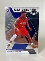 2019-20 PANINI MOSAIC ZION WILLIAMSON NBA DEBUT ROOKIE RC #269 PELICANS