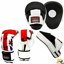 Curved Focus Boxing Pads Hook and Jab Mitts Kick MMA With Punching Gloves UK