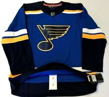 ST. LOUIS BLUES - size 50 = Medium  ADIDAS NHL Hockey Jersey home blue authentic