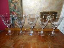 Set 5 New Old Stock Imperial Lenox Crystal Water Red Wine Glasses Stems Goblets