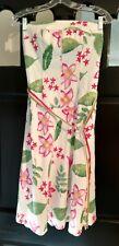 NWT White Cream Fuchsia Green FLORAL MEADOW STRAPLESS DRESS Sz 8/10* $79.99