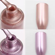 2Pcs 9ml NICOLE DIARY Metallic Mirror Nail Polish Rose Gold Purple Varnish