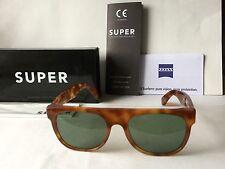 Super RETROSUPERFUTURE Unisex Flat Top Acetate Sunglasses Havana NEW
