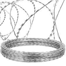 VEVOR Razor Wire Razor Barbed Wire 328ft 2 Coils Razor Wire Fencing Razor Fence