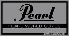 vintage Pearl 'WORLD SERIES ' type, mainly silver vinyl shell badges.SIX COPIES.