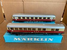 VINTAGE MARKLIN HO SCALE TRAIN #4809 LIGHTED & 4807 DB EUROP COMPARTMENT CARS