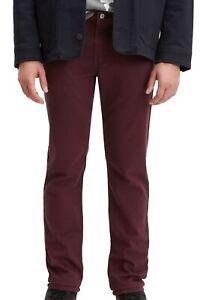 Levi's-511 Mens Jeans Wine Tasting Red Size 34x32 Slim Fit Stretch Denim $69 168