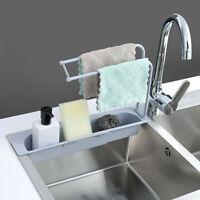 Household Faucet Clip Rack Kitchen Sink Rag Bath Holder Soap Storage Box YT