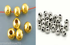 Smooth Round Ball Spacer Beads Gold Plated / Antique Silver - 2.4mm to 12mm Pick
