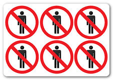 NO PEDESTRIANS health and safety signs  6No 200x200mm