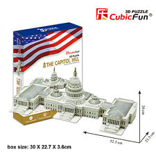 New The Capitol Hill USA Building 3D Model Jigsaw Puzzle 132 Pieces MC074H
