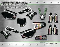 Kawasaki KX 250f 2006 up to 2008 graphics decals kit Moto StyleMX