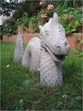 Drachenwurm -  3-teiliger Drachen - Drachenfigur - Steinfigur - Gartenfigur