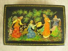 "Vintage 1978 Russian Palekh Lacquer Box ""The Four Girls"" by E. Svetozarova"