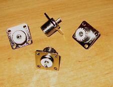 Dieci nuovi SO239 a Chassie Socket'S NEW per Radio Ham Radio utilizzare 4 FORI FISSAGGIO HF VHF