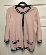 Chaps Pink Sweater Jacket Cardigan Womens Size 1X